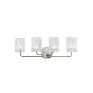 Hudson Valley Dexter 4-light Satin Nickel Vanity with Clear Shade