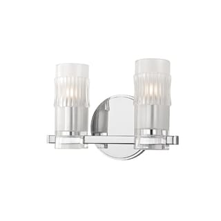 Hudson Valley Malone 2-light Chrome Vanity with Clear Glass Shade