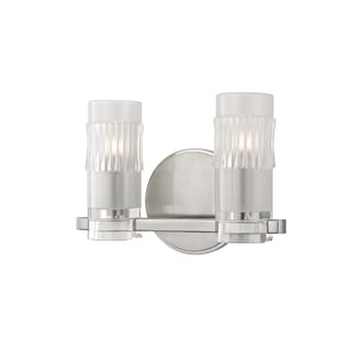 Hudson Valley Malone 2-light Satin Nickel Vanity with Clear Glass Shade