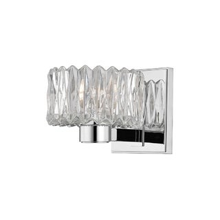 Hudson Valley Anson 1-light Chrome Vanity with Clear Glass Shade