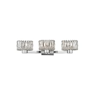Hudson Valley Anson 3-light Chrome Vanity with Clear Glass Shade
