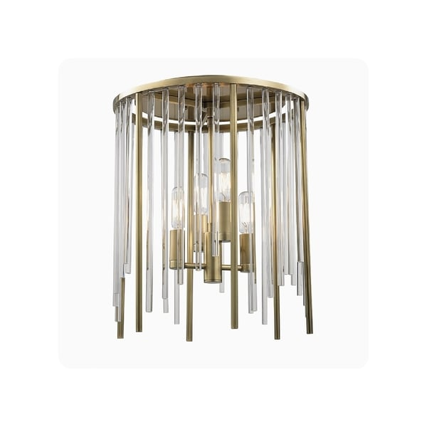 Hudson Valley Lewis 4-light Brass Flush Mount