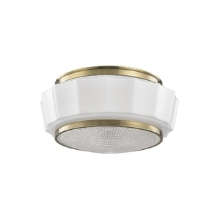 Hudson Valley Odessa 2-light Brass Flush Mount