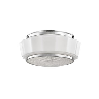 Hudson Valley Odessa 2-light Nickel Flush Mount
