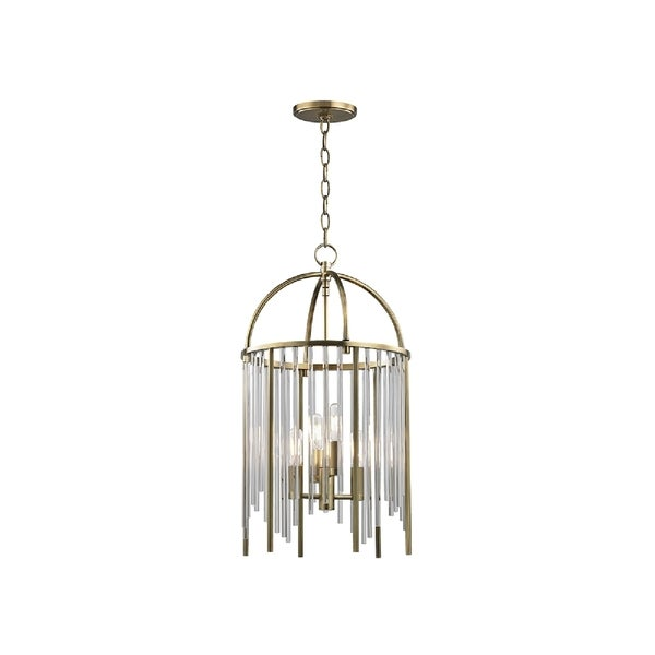 Hudson Valley Lewis 4-light Brass Pendant