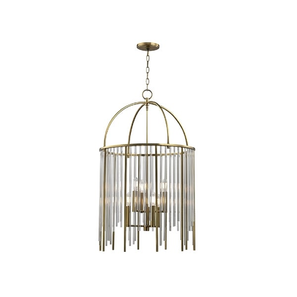 Hudson Valley Lewis 6-light Brass Pendant