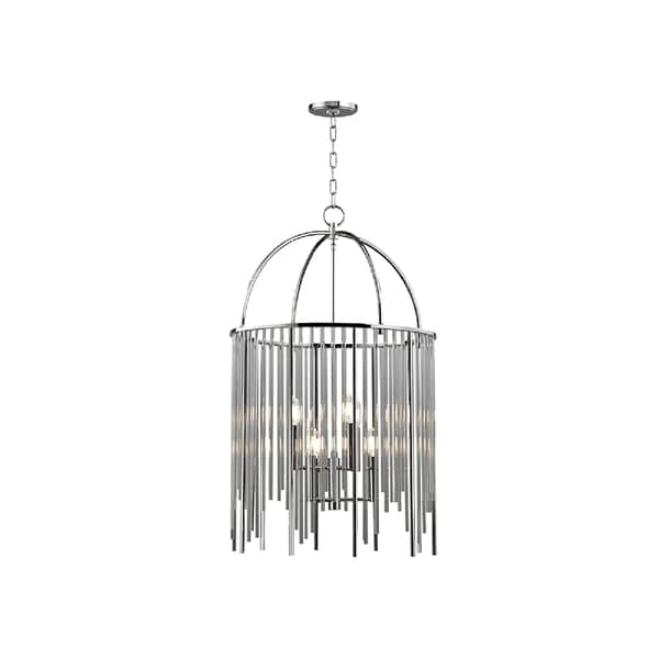 Hudson Valley Lewis 6-light Nickel Pendant