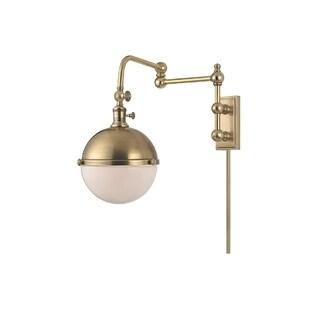 Hudson Valley Stanley 1-light Brass 17-inch Sconce