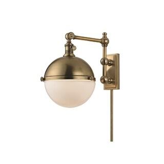 Hudson Valley Stanley 1-light Brass 13-inch Sconce
