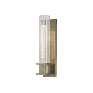 Hudson Valley Sperry 1-light Brass Sconce with Clear Shade