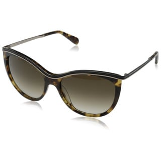 Kate Spade Women's Harmony/S Brown Plastic Cat Eye Sunglasses