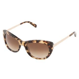 Kate Spade Women's Jayna/S Brown Plastic Cat Eye Sunglasses