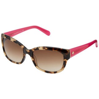 Kate Spade Women's Johanna/S Brown Plastic Pillow Sunglasses