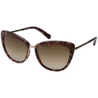Kate Spade Women's Kandi/S Warm Brown Metal Cat Eye Sunglasses