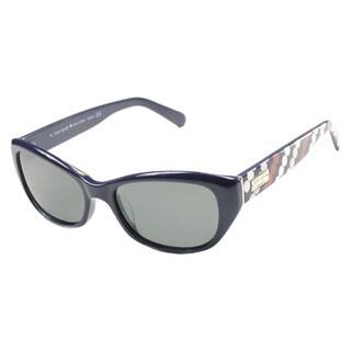 Kate Spade Women's Keara/P/S Grey Plastic Oval Sunglasses