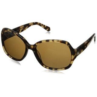 Kate Spade Women's Laney/P/S Brown Plastic Pillow Sunglasses