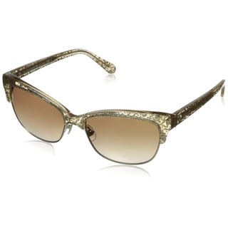 Kate Spade Women's Shira/S Brown/ Gold Metal Cat Eye Sunglasses