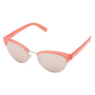 Kate Spade Women's Ziba/S Pink Metal Round Sunglasses