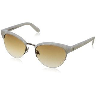 Kate Spade Women's Ziba/S Brown/ White Metal Round Sunglasses