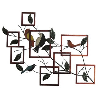 Gallerie Décor 'Birds on Branches' Metal Wall Art