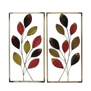 Gallerie Decor Leaf Branches Metal Wall Art (Set of 2)