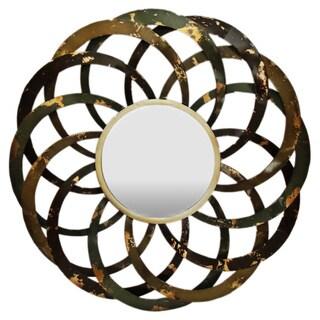 Gallerie Décor 'Circles' Metal Wall Mirror