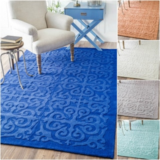 nuLOOM Handmade Abstract Fancy Wool Rug (7'6 x 9'6)