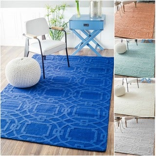 nuLOOM Handmade Abstract Trellis Wool Rug (5' x 8')