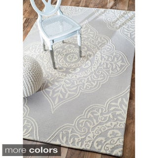 nuLOOM Handmade Abstract Fancy Wool Rug (5' x 8')
