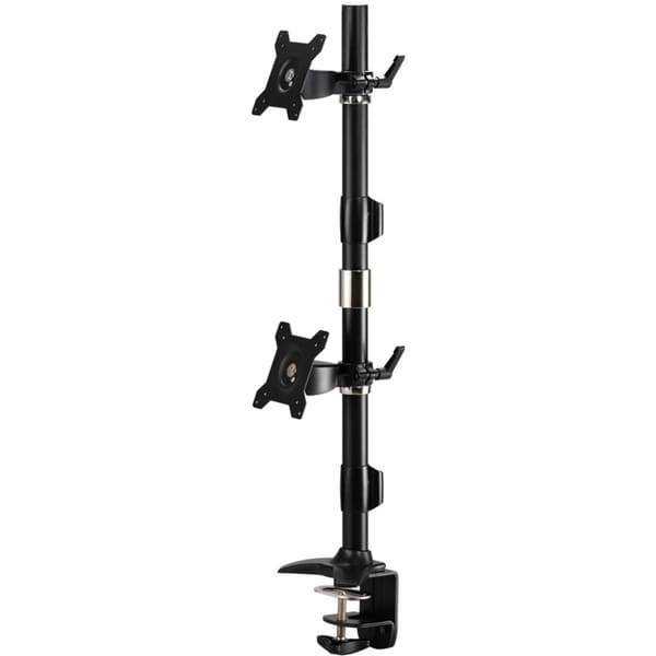 "Amer Mounts Clamp Based Vertical Dual Monitor Mount for two 15""-24"" L"