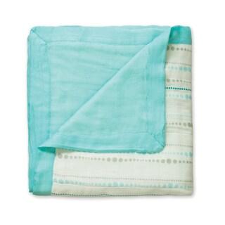 aden + anais Azure Beads + Solid Aqua Dream Blanket