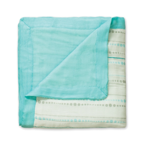 aden + anais Azure Beads + Solid Aqua Bamboo Dream Blanket