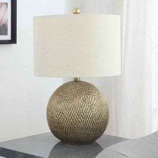 Creek Classics 25-inch Antique Gold ball Table Lamp