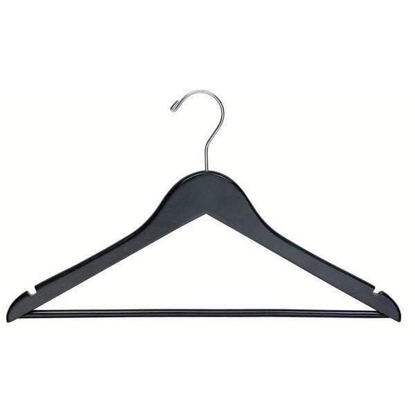 Black Wooden Suit Hanger (Box of 50)