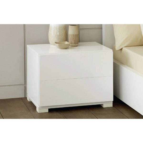 Modrest Left Facing Polar White Modern Nightstand