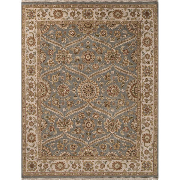 Hand-Knotted Classic Oriental Pattern Monument/ Pumice stone (6' x 9') Area Rug