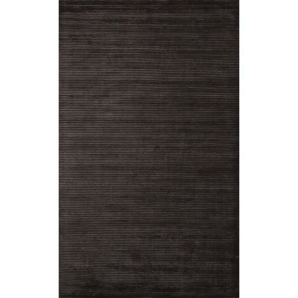 Handmade Formal Solid Pattern Black olive/ Black olive (9' x 12') Area Rug