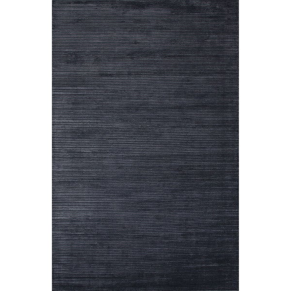 Handmade Formal Solid Pattern Moonlight blue/ Moonlight blue (9' x 12') Area Rug