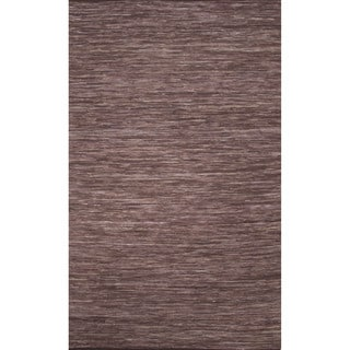 Handmade Casual Solid Pattern Deep taupe/ Deep taupe (5' x 8') Area Rug