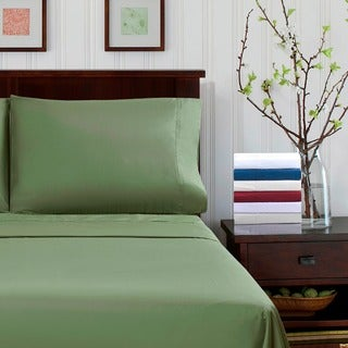 300 Thread Count Percale Cotton Solid Sheet Set
