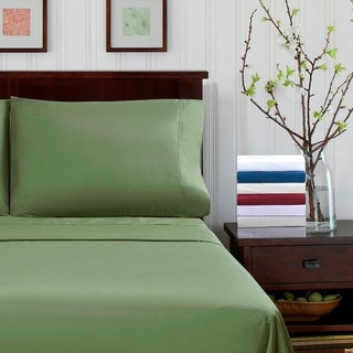 Superior 300 Thread Count Percale Cotton Deep Pocket Bed Sheet Set