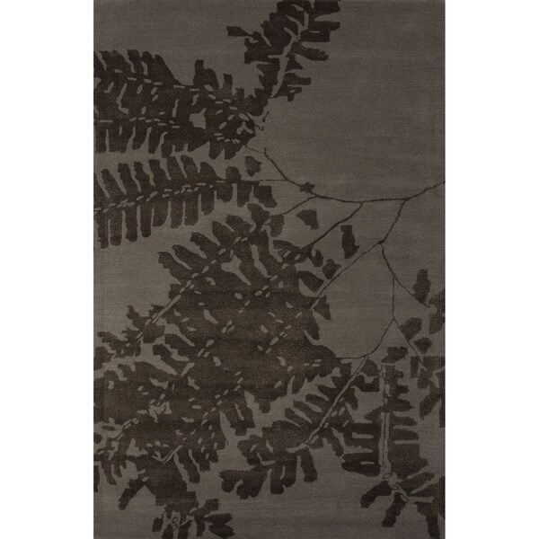 Hand-Tufted Novelty Floral Pattern Abbey grey/ Teak (2' x 3') Area Rug