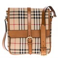 Burberry 3934951 Horseferry Check and Leather Crossbody Bag