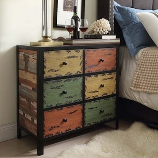 Soho Rustic Antique Multicolor 6-drawer Cabinet Storage Chest