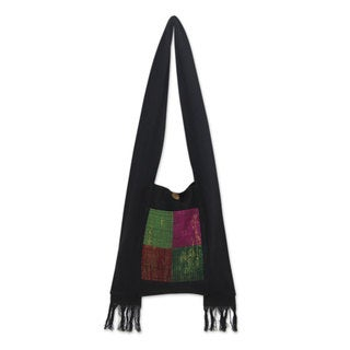 Handcrafted Cotton 'Thai Jewel' Shoulder Bag (Thailand)