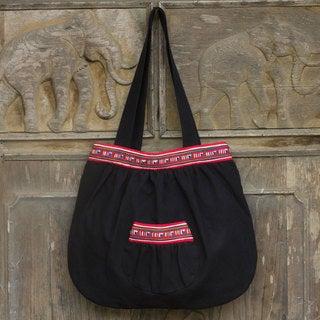 Cotton 'Lisu Dance' Shoulder Bag (Thailand)