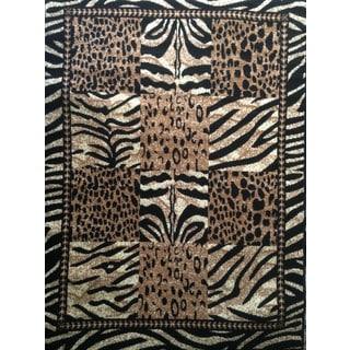 LYKE Home Dawn Zebra Area Rug (5' x 7')