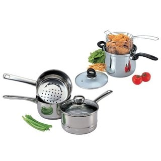 Stainless Steel Gourmet Speciality Cookware 7-piece Set