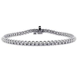 Miadora Signature Collection 14k White Gold 1ct TDW Diamond Tennis Bracelet (G-H, SI1-SI2)