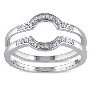 Haylee Jewels Sterling Silver 1/10ct TDW Diamond Wedding Band (G-H, I2-I3)
